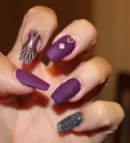 Purple & Charcoal Gray Acrylic
