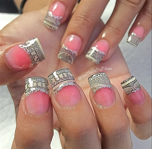 Money nail art nail art gallery money nail art prinsesfo Images