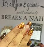 Copper Glitter/Fall Nails