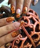 Copper Fall Color Nails