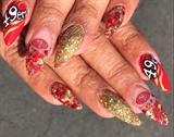 Sam Francisco 49ers Nail Art