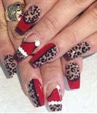 Santas hat Nail Art