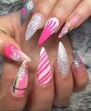 Hot Pink Winter Nails