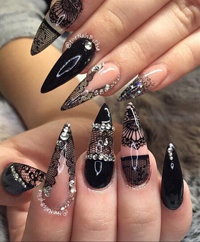 Black Lace Nail Art Nail Art Gallery