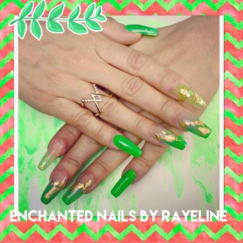 Green Neon Nails