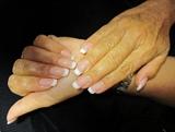 she wanted basic nails ^^