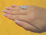 simply nails - zebra