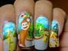 Curious George on nails