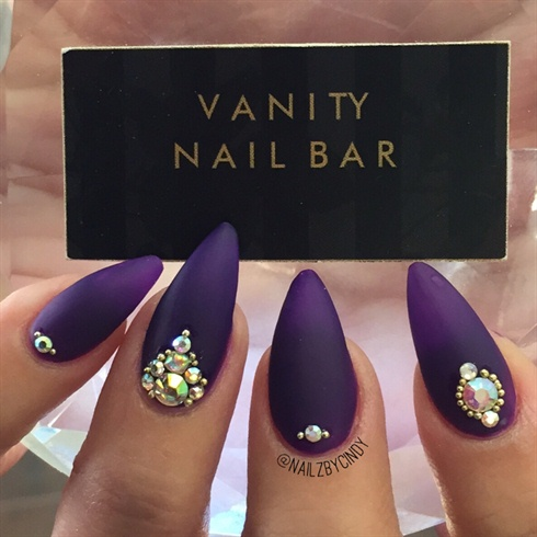 Matte Purple Nails!