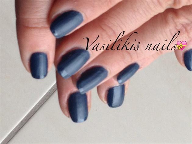 Dark Blue Matte French