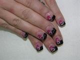 My valentine, black tip pink hearts