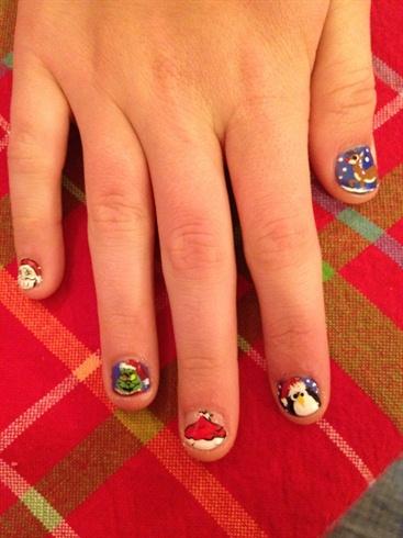 Christmas on natural nails