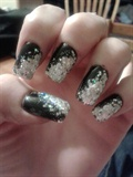 Black with Silver Glitter