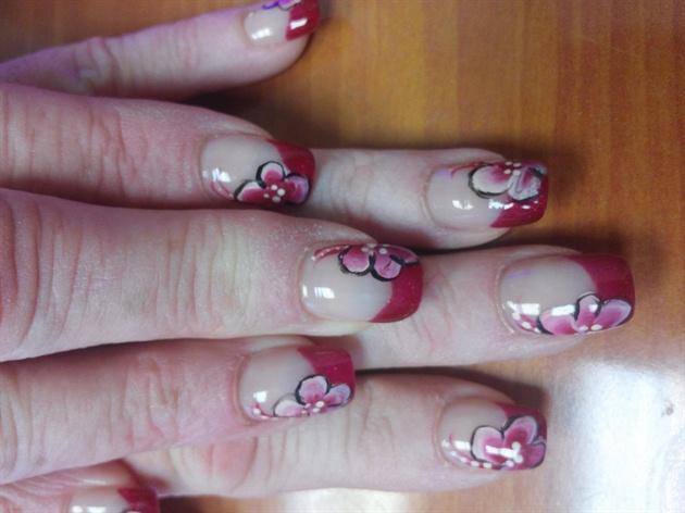 red tips floral design