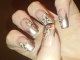 taupe chrome nails