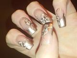 taupe chrome nails