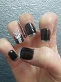black corset silver tips