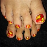 sunflower pedi