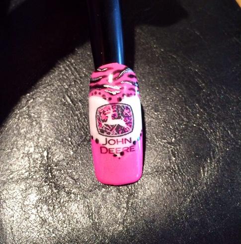John Deere Country Girl Style Nail Art Gallery
