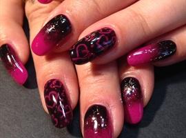 nail art: Dark Love