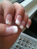 white sprinkle nails