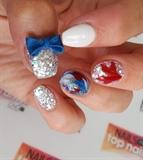 acrylic 'Merica nails