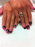 Pink + Black Ombré