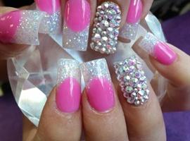 Pink & White Bling