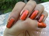 Orange - Zebra Stripes