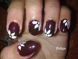 Dark Brown - Floral