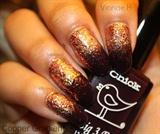 Copper Glitter Gradient