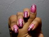Pink Animal Print Nail Art