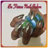 Silver Chrome Stilleto Nails