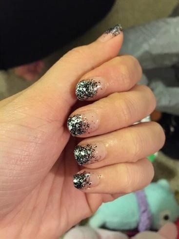 Glittery French Manicure