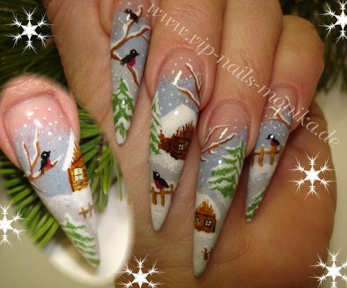 Winter Design, Hand-Painted