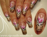 Zebra-Leo and One Stroke Flowers