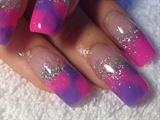 Tye Dye Pink And Purple