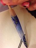 Blue Glitter Fade