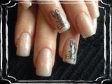 Nude Shimmer. Stamping Nail Art