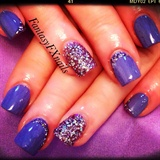 Purple Glitter Mani