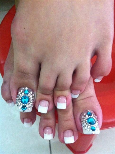 Bridal Bling Toes - Nail Art Gallery
