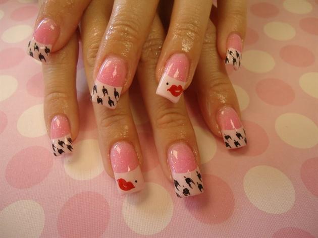 дизайн средних ногтей фото