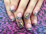 Zebra &butterfly