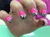 Pink And BLack French And Whites Design