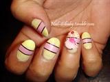 Yellow frog princess nails