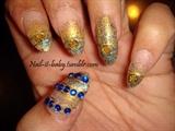 Saree inspired nails