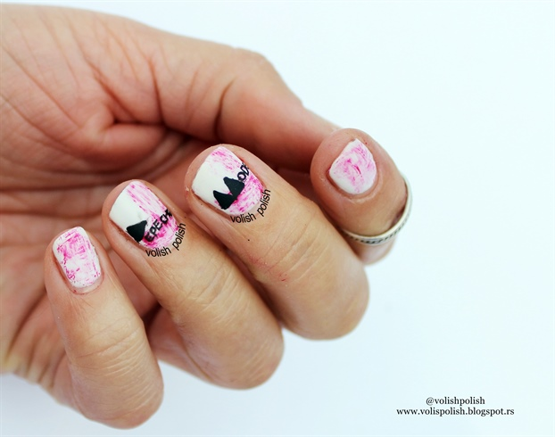 Depeche Mode nail art dizajn