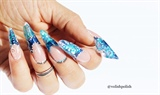 Blue lagoon nail art design