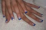 Flowers, glitter & Blue.