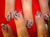 Swirls in red and black